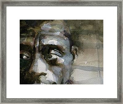Blue In Green  Miles Davis Framed Print