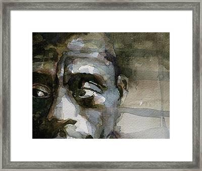 Blue In Green  Miles Davis Framed Print by Paul Lovering