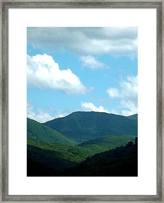 Blue In The Sky Framed Print by Russell Clenney