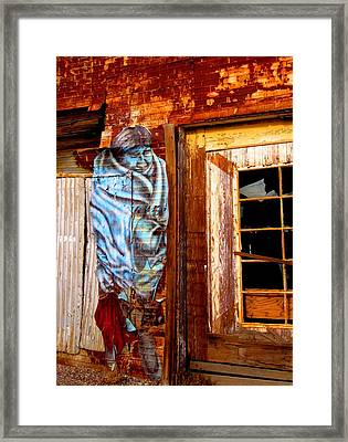 Framed Print featuring the photograph Blue Indian by Marilyn Diaz