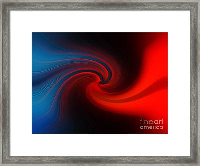 Blue Into Orange Framed Print
