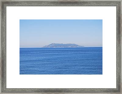 Framed Print featuring the photograph Blue Ionian Sea by George Katechis