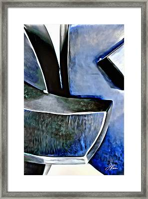 Blue Iron Framed Print