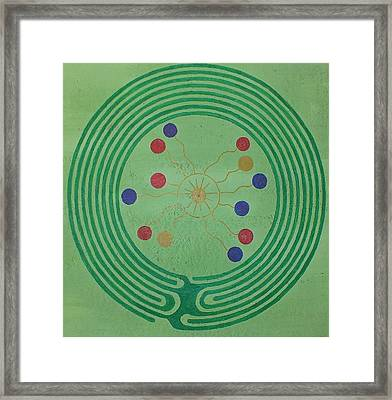 Blue Island Labyrinth Framed Print by Folade Speaks