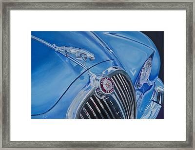 Vintage Blue Jag Framed Print by Anna Ruzsan