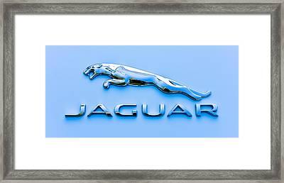 Blue Jaguar Framed Print by Ronda Broatch