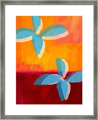 Blue Jasmine Framed Print by Linda Woods