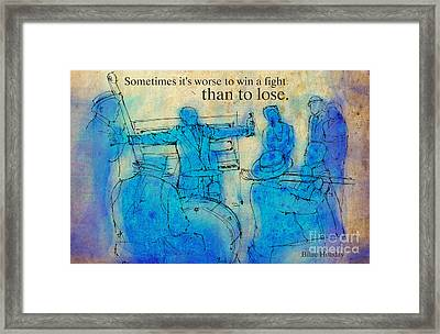 Blue Jazz - Bille Holiday Quote Framed Print by Pablo Franchi