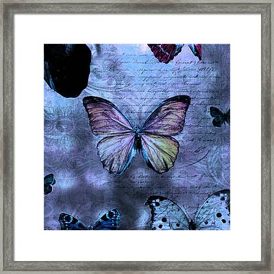 Blue Jean Baby Framed Print by Evie Carrier