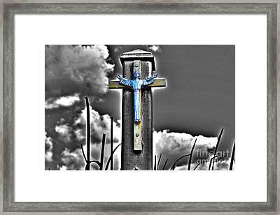 Blue Jesus Reprise Framed Print