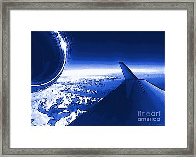 Blue Jet Pop Art Plane Framed Print