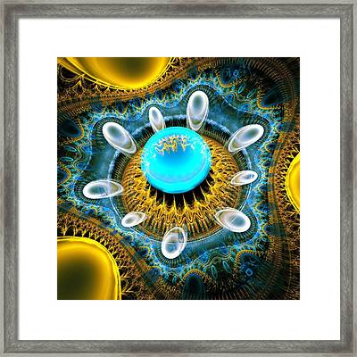 Blue Jewel Framed Print by Anastasiya Malakhova