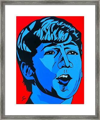 Blue  John Lennon Framed Print