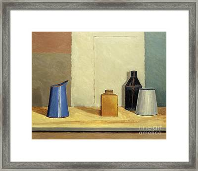 Blue Jug Alone Framed Print by William Packer