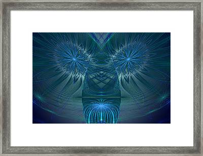 Blue Julian Vase Framed Print