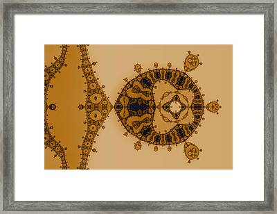 Blue Lace Framed Print by Mark Eggleston