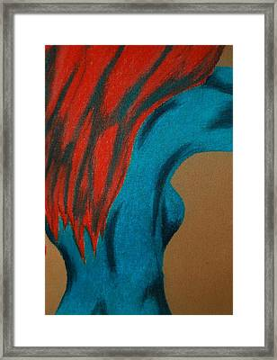 Blue Lady Framed Print by Angela Murray