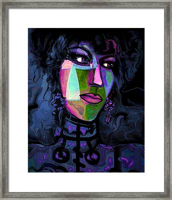 Blue Lady Framed Print by Natalie Holland