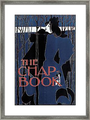 Blue Lady The Chap-book Framed Print by William H Bradley