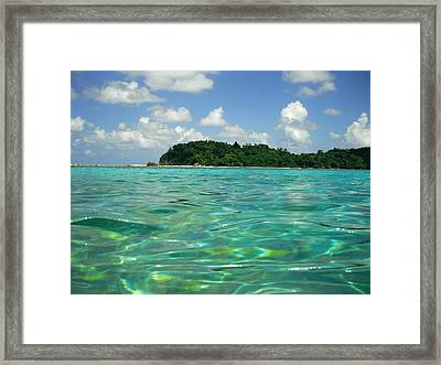 Blue Lagoon Framed Print by Carey Chen