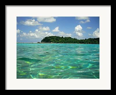 Surfing. Fishing Framed Prints