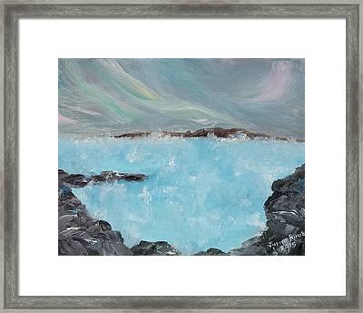 Blue Lagoon Iceland Framed Print