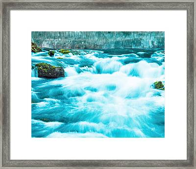 Framed Print featuring the photograph Blue Lagoon by Steven Bateson