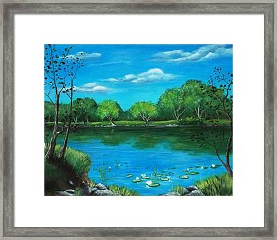 Blue Lake Framed Print by Anastasiya Malakhova