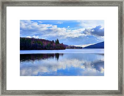 Blue Lake Framed Print by Dave Woodbridge