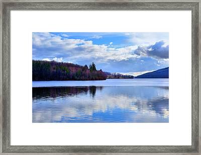 Blue Lake Framed Print by Dave Woodbridge