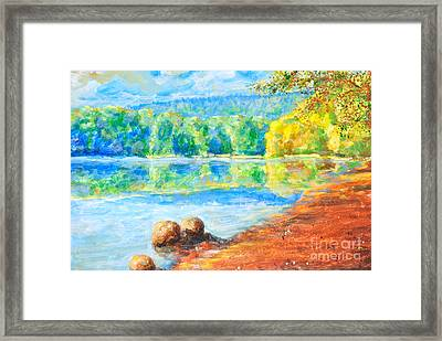 Blue Lake Framed Print by Martin Capek