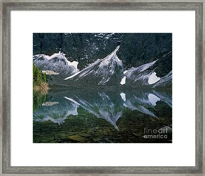 Blue Lake Reflection Framed Print by Tracy Knauer