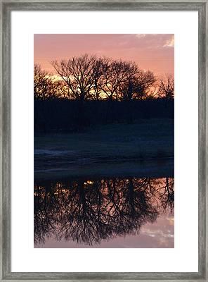 Blue Lake Sunset Xi Framed Print by Ricardo J Ruiz de Porras