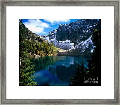 Blue Lake Framed Print