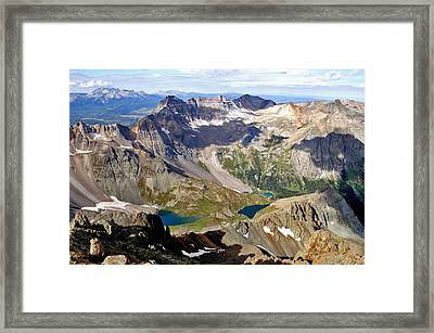 Blue Lakes Beauty Framed Print