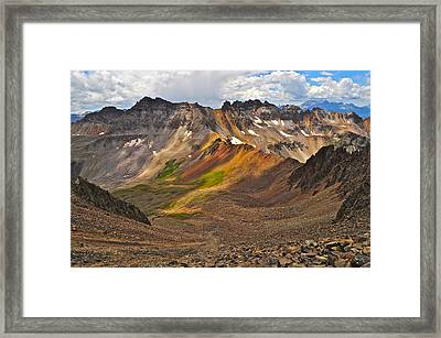 Blue Lakes Pass Framed Print by Aaron Spong
