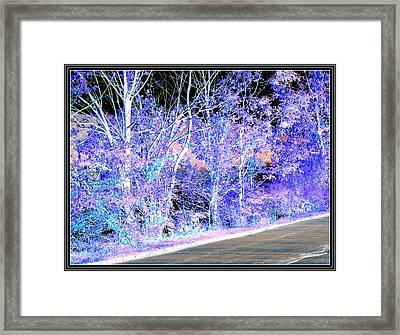Blue Landscape-1 Framed Print by Anand Swaroop Manchiraju