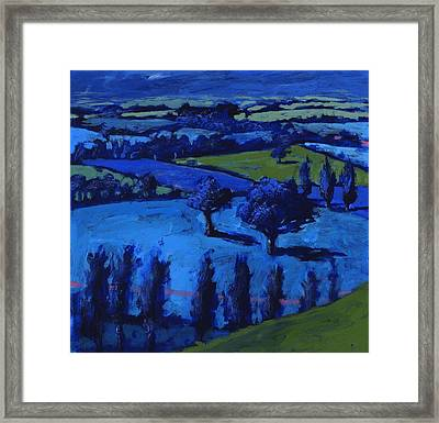 Blue Landscape Framed Print by Paul Powis