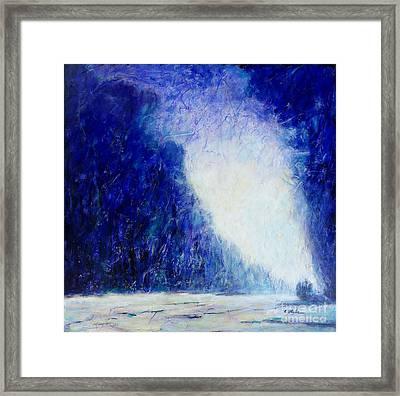 Blue Landscape - Abstract Framed Print