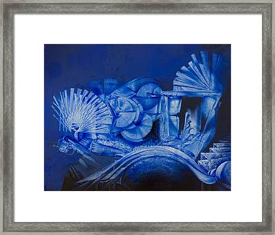 Blue Landscape Framed Print by Fernando Alvarez