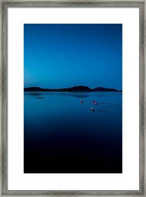 Blue Lanscape Framed Print