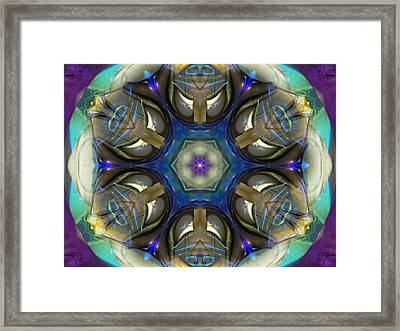 Blue Light Angel Mandala Framed Print
