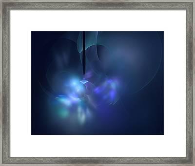 Blue Light Framed Print by Nafets Nuarb