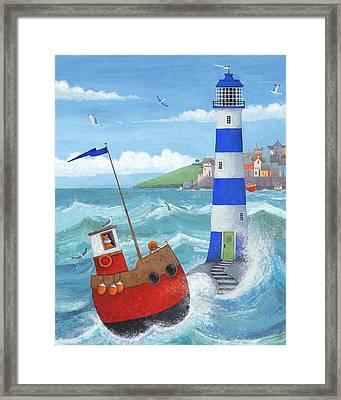 Blue Lighthouse Framed Print