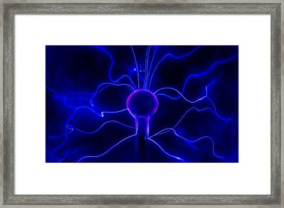Blue Lightnings Framed Print