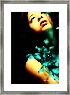 Framed Print featuring the photograph Blue Lights by Jessica Shelton
