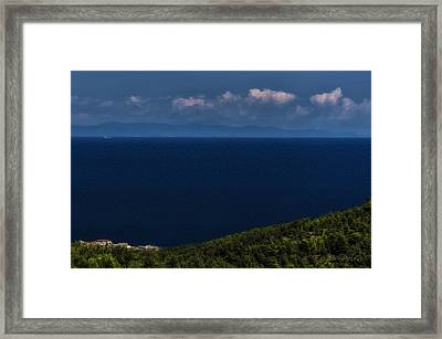 Blue Liguria Framed Print