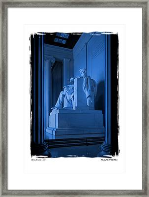 Blue Lincoln Framed Print by Mike McGlothlen