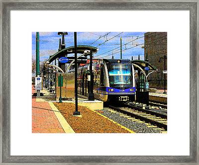 Framed Print featuring the photograph Blue Line by Rodney Lee Williams
