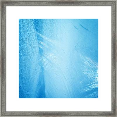 Blue Linen Sunshine Framed Print